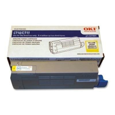 OKI Data Yellow Toner Cartridge for C711 Series Printers, Yields Approx. 11500 (C711n Led Printer)