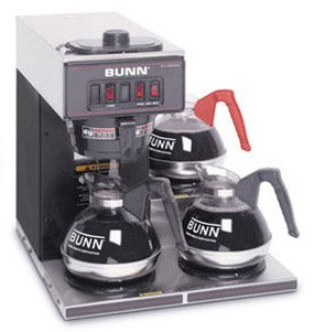 Bunn Pourover Coffee Brewer with 3 Warmers -VP17-3-0013