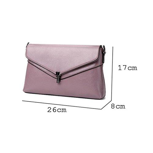 carré version Lxf20 Bag du couleur Sac coréenne Messenger féminin féminin sac à Gray sac sac petit simple PU unie bandoulière 0qUC0x
