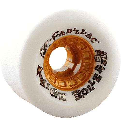 横飢え敬意を表してCadillac高ローラー70 mm 79 aホワイトLongboard Wheels ( Set of 4 )