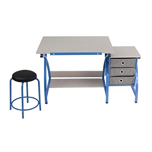 Studio Designs Blue Comet Center Hobby And Craft Table