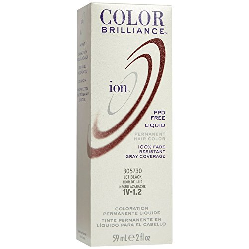 1V Jet Black Permanent Liquid Hair Color