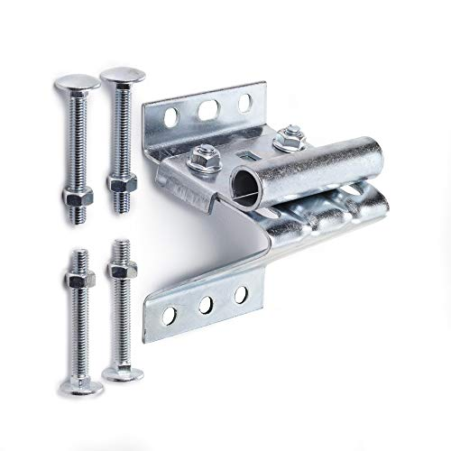 (Ideal Security Inc. SK7132 Adjustable Universal Replacement for Sectional Garage Doors Top Roller Bracket, Galvanized)