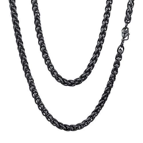FaithHeart 6 MM Twisted Spiga Wheat Chain Necklace