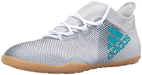 adidas Mens X Tango 17.3 Indoor Soccer Shoe White/Energy Blue/Black RahrE5