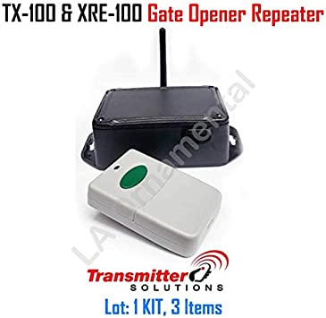 Reign® XRE-100 Extender 2 Relay Receiver 1 Mile Battery BackUp Auto Sync Gate