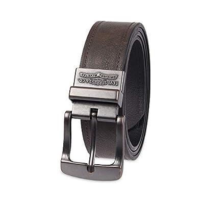 Levi's Men's Wide Reversible Casual Jeans Belt,Black/Brown,36
