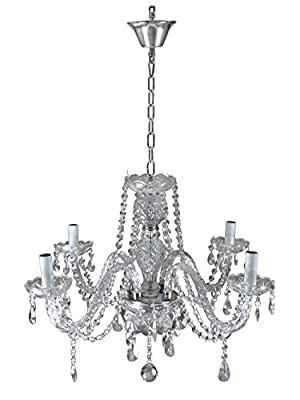 TMS 4 Lights Clear Crystal Chandelier Lighting Fixture Pendant Ceiling Lamp Lighting