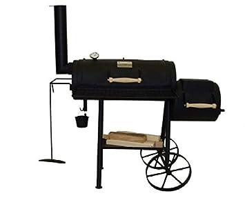 Smoker Ondra 327 de 4 mm Chapa de acero, con placa y grabación de cocina para barbacoa pincho: Amazon.es: Jardín