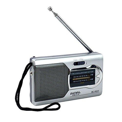 WiseField Portable AM/FM Radio World Receiver, Silver