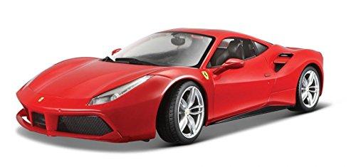(Ferrari Burago 1/18 Scale Diecast - 18-16008 488 GTB Rosso)