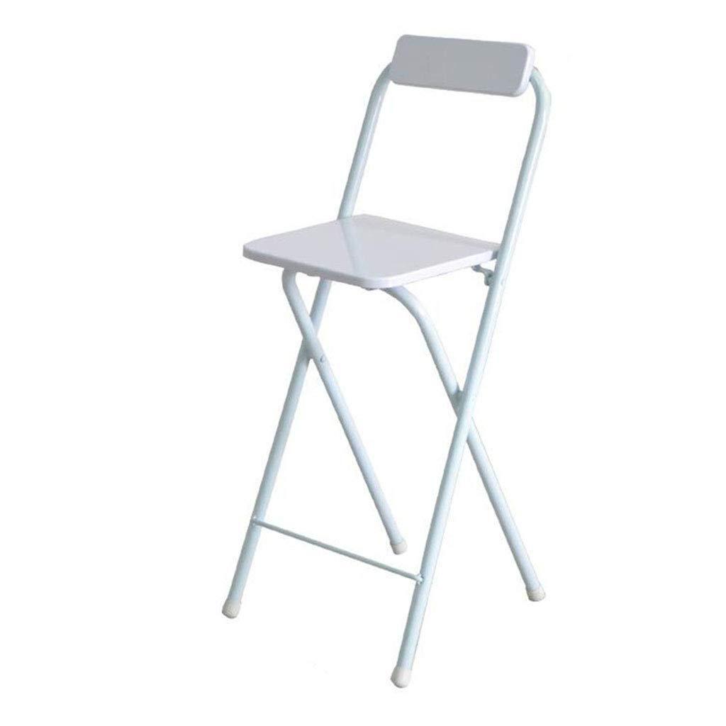 Amazon.com: Bar High Folding Chair Home Back Dining Chair ...