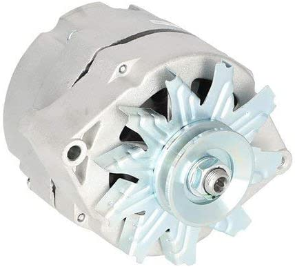 1876680 1979863 New Chrome Alternator 1 Wire Self Exciting Replaces 10 SI 10SI DELCO 65 AMP 1965-1985 10459509 1103199 1979865 1976063 1105360