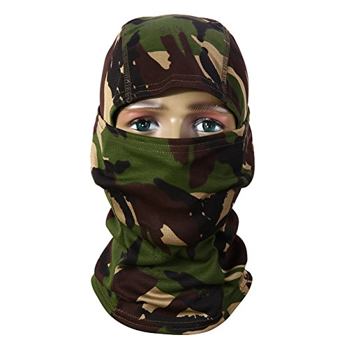 1 Piece 3D Hunting Hunter Camouflage Camo Headgear Balaclava Face Mask for Wargame Paintball Hunting Fishing Cycling Mask Equipment - Winter Face Mask (STYLE B)