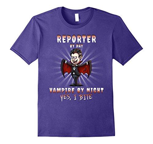 Reporter Costume (Mens Reporter Halloween Party Costume XL Purple)