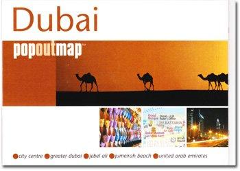 Dubai, UAE PopOut Map