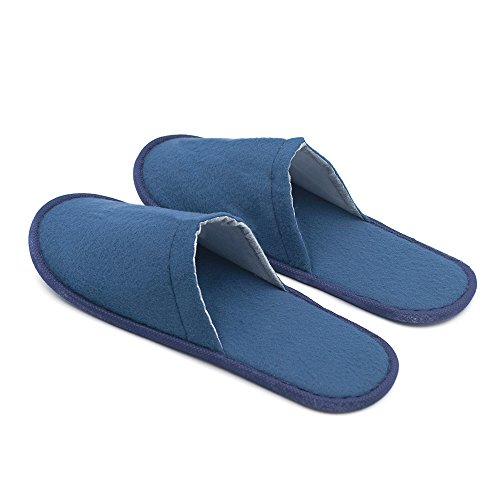 Opromo , Damen Hausschuhe Blau