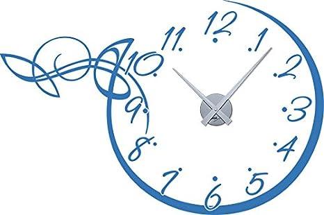 GRAZDesign 800134_GD_010 Wandtattoo Wandaufkleber Uhr Wanduhr fü r Wohnzimmer Ornament Zahlen Punkte (86x57cm//010 Weiss//Uhrwerk Gold)