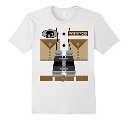 Mens This Is My Zookeeper Costume T-shirt Large White
