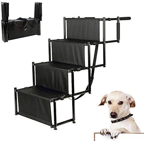 H&ZT - Escalera Plegable para Perro, con Marco de Metal, para Uso en Interiores y Exteriores, Ligera, portátil, para Perros y Gatos, Ideal para Coches, Camiones y todoterrenos, Carga: Amazon.es: Productos para