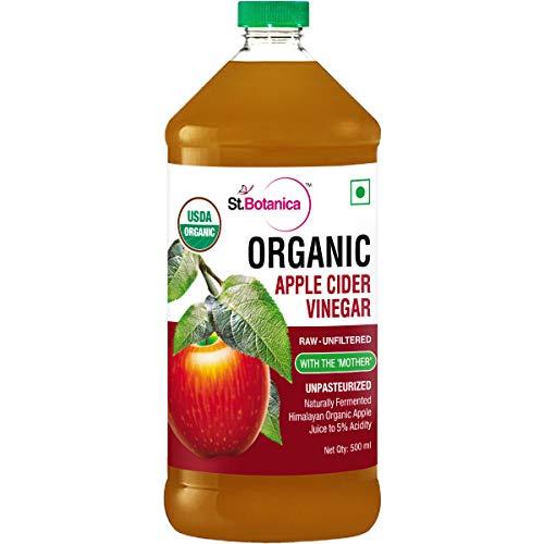 StBotanica Usda Organic Apple Cider Vinegar – Raw, Unfiltered With Mother Vinegar – 500Ml