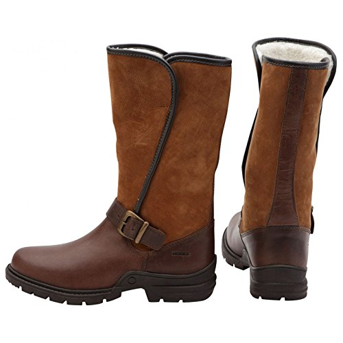 Horka Chesterfield Ladies Waterproof Leather Walking Stavble Yard Fur Outdoor Winter Country Boots Size 3-8 Sq9ZpURb