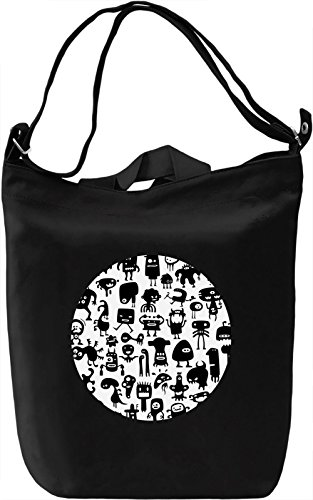 Animated Heroes Borsa Giornaliera Canvas Canvas Day Bag| 100% Premium Cotton Canvas| DTG Printing|