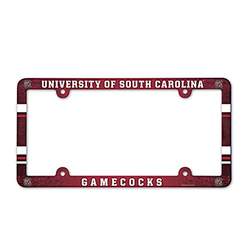 NCAA License Plate with Full Color Frame, University of South (South Carolina Gamecocks Auto)