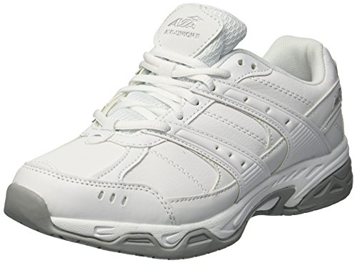 AVIA Women's Avi-Union II Food Service Shoe, White/Chrome Silver, 8.5 Medium US