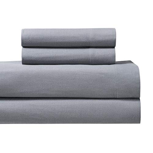 - Royal's Heavy Soft 100% Cotton Flannel Sheets, 4pc Bed Sheet Set, Deep Pocket, Thick, Heavy and Ultra soft Cotton Flannel, Gray, California-King