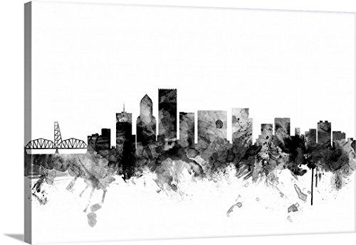 Michael Tompsett Premium Thick-Wrap Canvas Wall Art Print entitled Portland Oregon Skyline 48