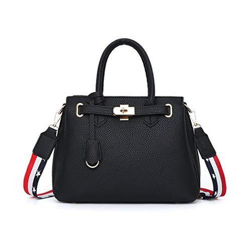 y clutches mano Shoppers bandolera Mujer bolsos y de hombro de Carteras Fekete Bolsos aqwZT61W