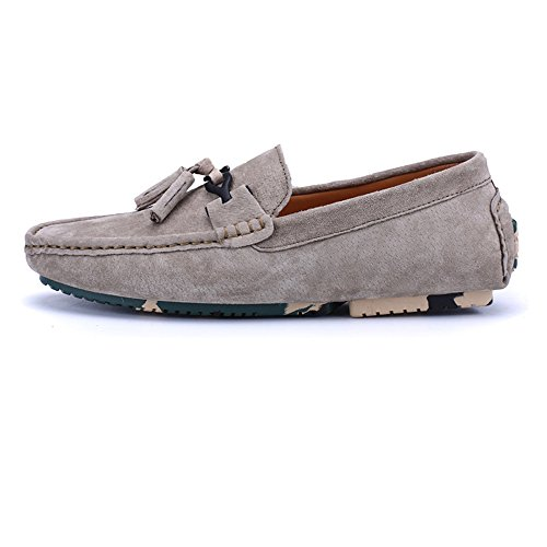 on Decor Shoes pelle guida Nappa da Mocassini Business Mocassini Cachi in Flat EU Slip da Mocassini Cachi Color Isbxn Dimensione Fashion uomo Penny vera 44 Scarpe zxYTqfnH