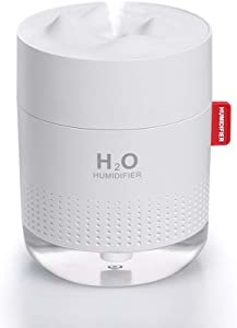SmartDevil Small Humidifiers, 500ml Desk Humidifiers, Whisper-Quiet Operation, Night Light Function, Two Spray Modes,Auto Shut-Off for Bedroom, Babies Room, Office, Home (White)
