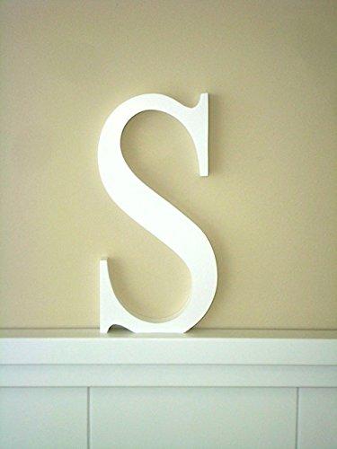 Letra S .Letras decoración Grandes. Letras lacadas blancas. Altura ...