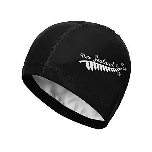 GKKQPZN-5A Unisex Swim Caps New Zealand Maori Fern High Elasticity Swimming Cap Suitable of Pool and Beach -
