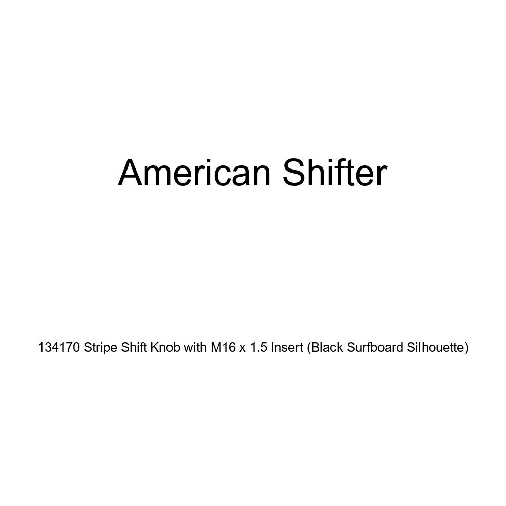 Black Surfboard Silhouette American Shifter 134170 Stripe Shift Knob with M16 x 1.5 Insert