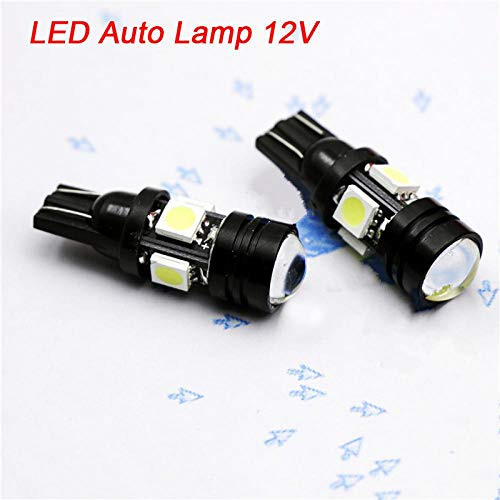 2Pcs Car LED Car Styling W5W 196 168 LED Auto Lamp 12V 20W Light Bulbs with Projector Lens Car Accessories White