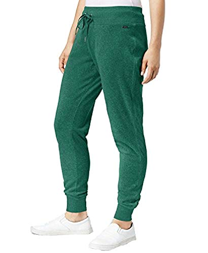 Calvin Klein Women's Drawstring Jogger Pants Malachite Large ()