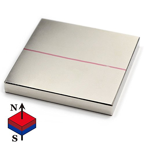 CMS Magnetics Neodymium Magnets Square Rare Earth Square Magnets 2x2x1/4 Inches 1 Piece
