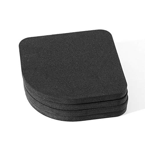 come mostra limmagine 4 pezzi Tappetini antiscivolo per lavatrice Rondella Frigorifero Antivibrante Tappetino antiurto per lavatrice