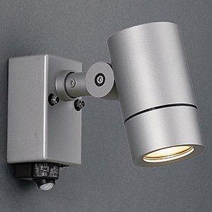 山田照明 LED一体型スポットライト 人感センサー付 防雨型 非調光 ダイクロハロゲン50W相当 電球色 配光角度25° 壁付専用 AD-2907-LL B01MTL70BN