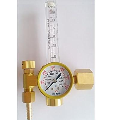 Warrior MIG TIG CO2 Welding Gas Regulator Flow meter Air Pressure CGA320 NUT Inlet Thread Western Standard
