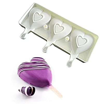 Autohome Pack of 2 Ice Pop Cube Candy Chocolate Mold DIY Ice Cream Maker