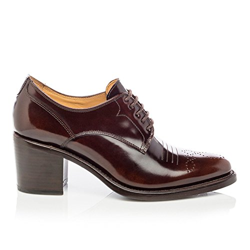 La Oficina De Angela Scott Miss Button Mid Heel Mahogany