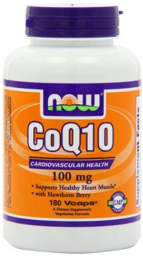 NOW Foods Coq10 100 мг, 180 Vcaps