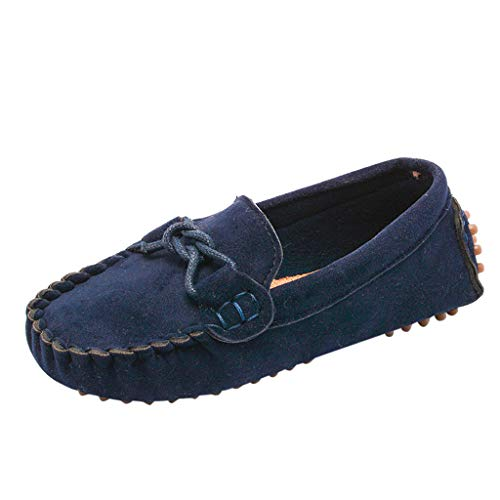 SUNyongsh Children Baby Shoes Boys Girls Kids Loafers Solid Color Soft Bottom Breathable Casual Shoes Dark -