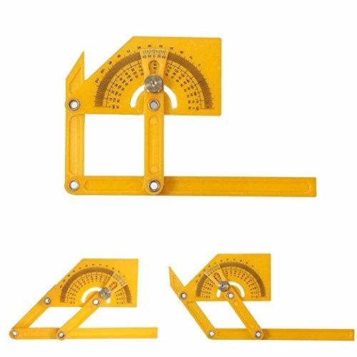 [해외]Voberry 1PC 앵글 파인더 각도기 엔지니어 측정 암 눈금자 플라스틱 게이지 도구/Voberry 1PC Angle finder protractor Engineer Measure Arm Ruler Plastic G
