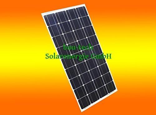 130 Watt Solarmodul Solarpanel Photovoltaik Solarzelle 130 W Monokristallin NEU von bau-tech Solarenergie GmbH