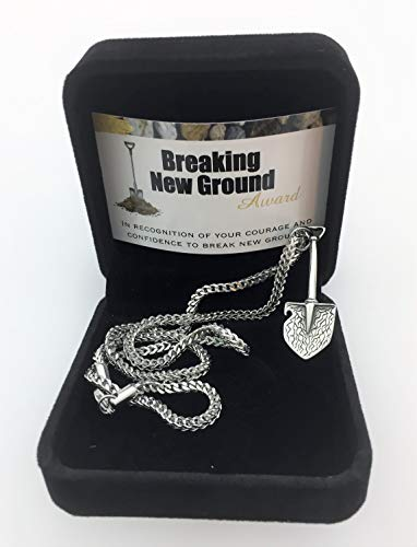 Smiling Wisdom - Breaking New Ground Employee Innovation Recognition Award - Shovel - Him, Her, Woman, Man Team Members, Students, Rock Stars - Stainless Steel (Shovel Team)